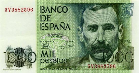 billete español de 1000 pesetas