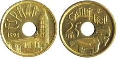 25 pesetas agujero castilla leon