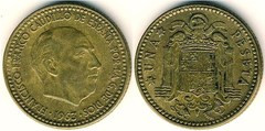 valor moneda de franco de 1 peseta 1947